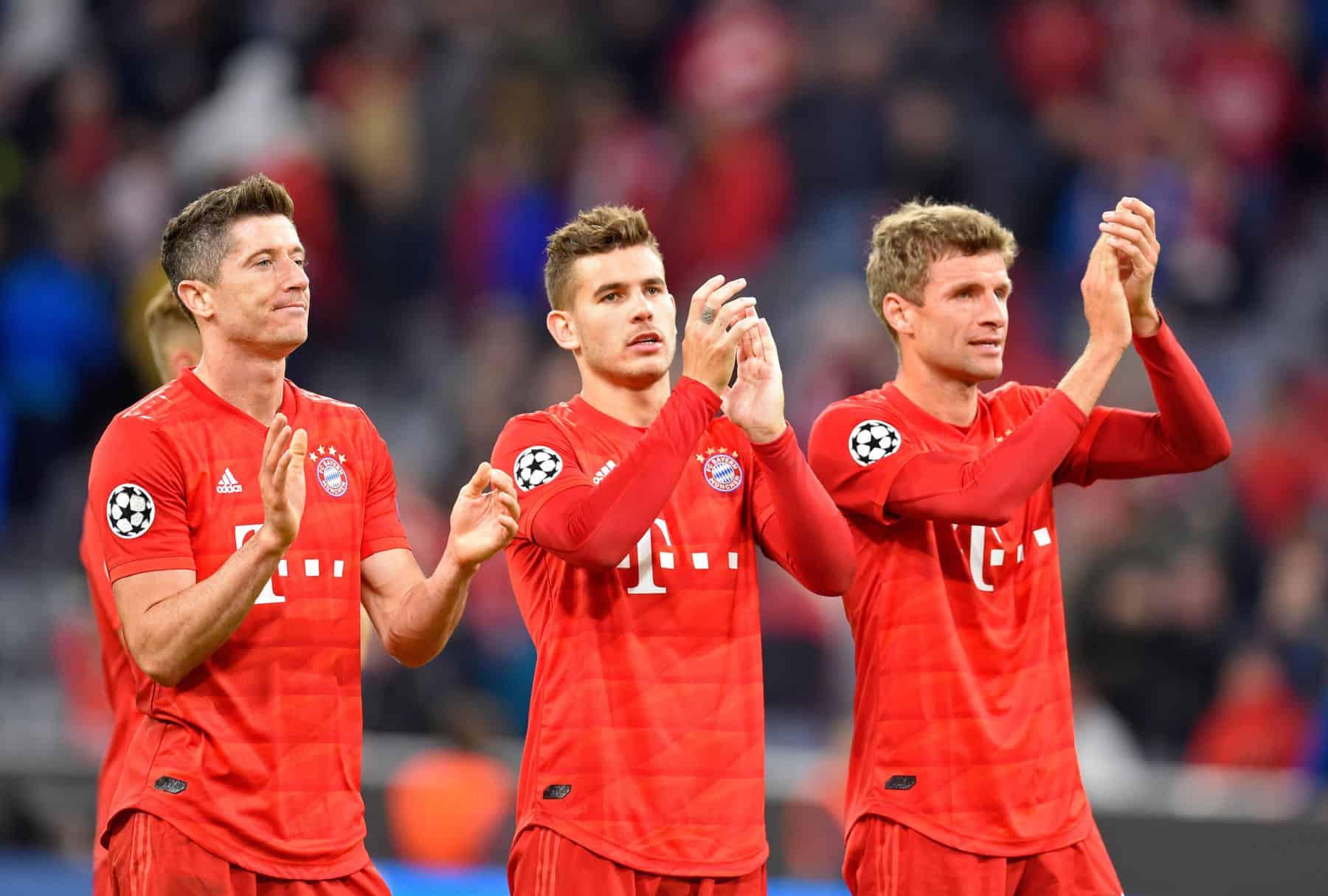 Robert Lewandowski, Thomas Muller et Lucas Hernandez (Bayern Munich)